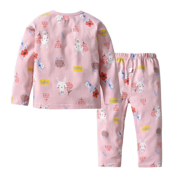 Bird-Rabbit Printed Baby Night Suit