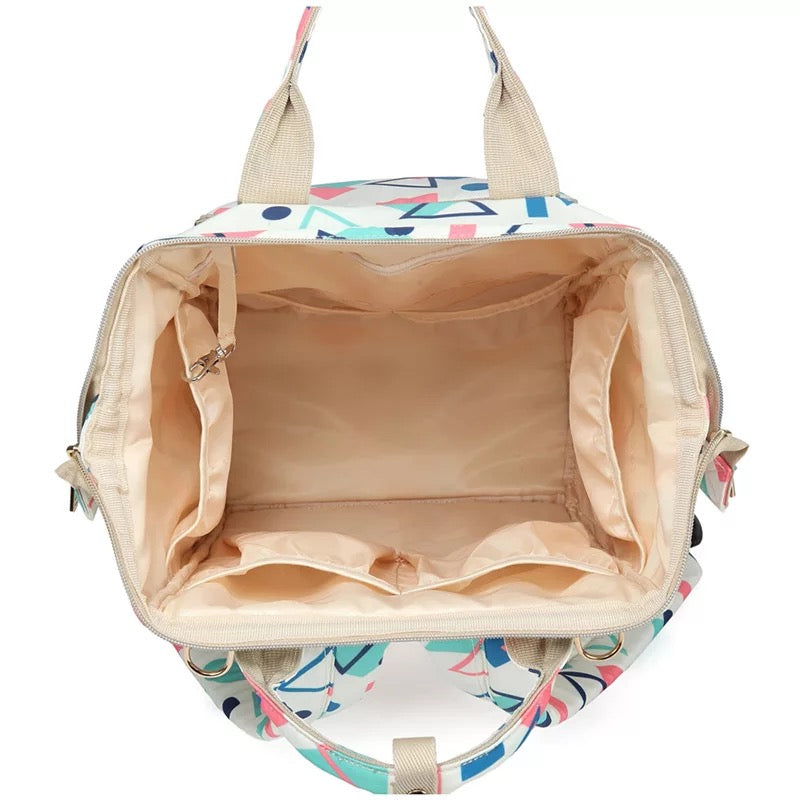 WATERPROOF PRINTED NAPPY BAG