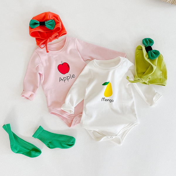 Fruit Romper With Cap