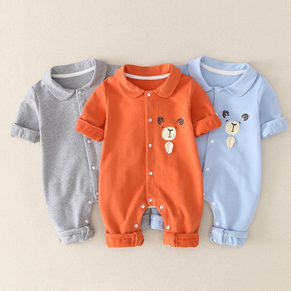 Bear Made Polo Collar Romper