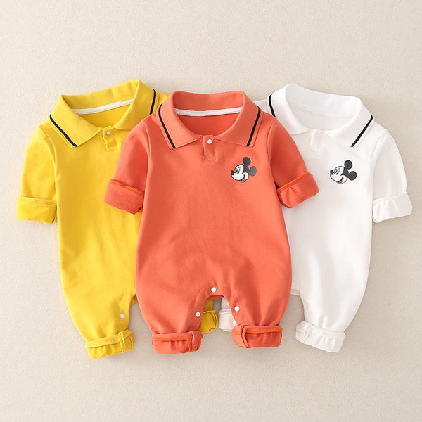 Mickey Mouse Polo Collar Jumpsuit