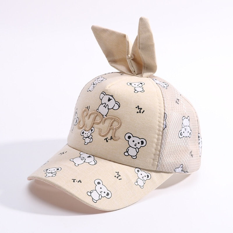 Cartoon Rabbit Printed Cap