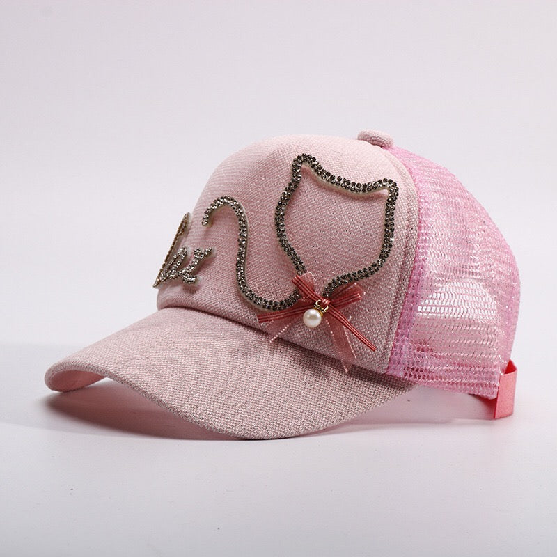 Cat Embossed Cap