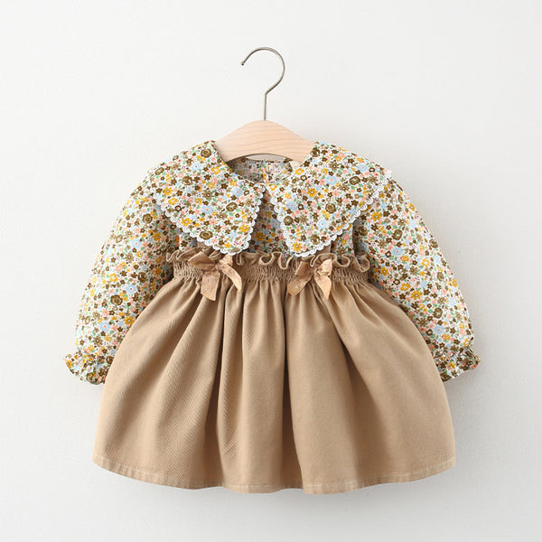 Floral Top And Pleated Dungaree Dress