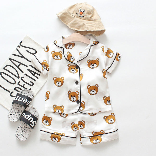Bear Printed Night Suits