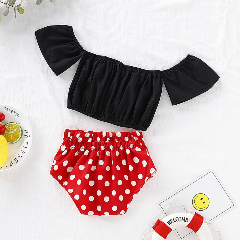 Off Shoulder Top And Minnie Bloomer Set