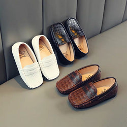 Classic Checkered Leather Loafers