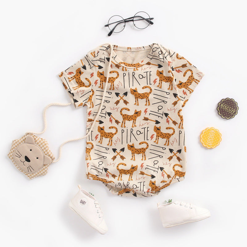 Cat Printed Onesie