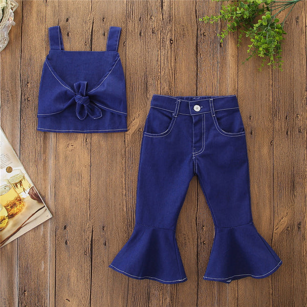 Denim Top And Pant Set