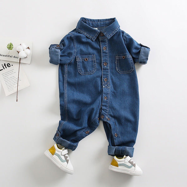 Double Pocket Denim Jumpsuit
