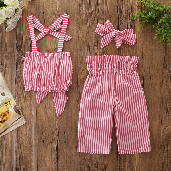 Striped Summer Set With Headband
