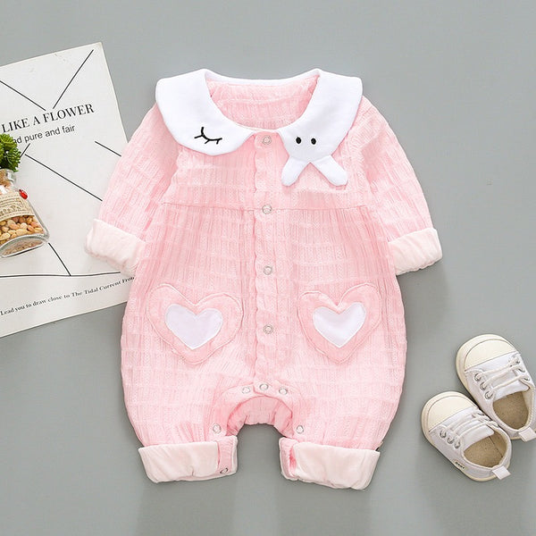 Heart Made Doll Collar Romper