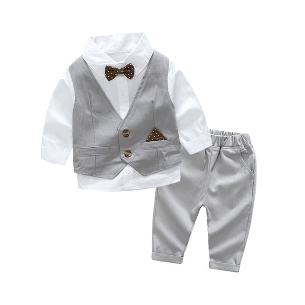 Grey Party Suit For Boys