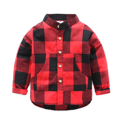 Checks High Low Shirt With Pockets