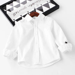 Plain Cotton Solid Color Shirts For Boys