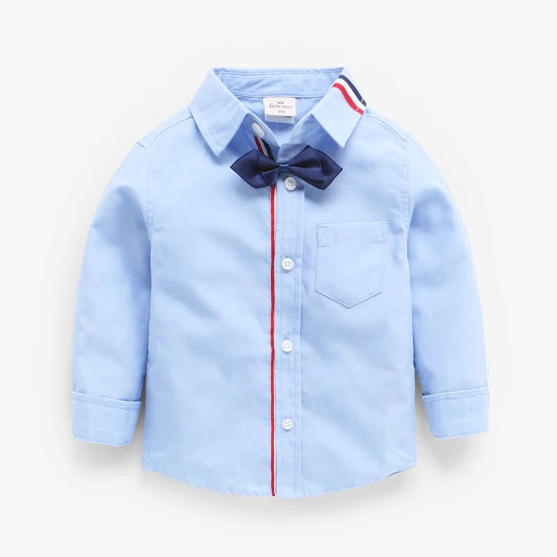 Stylish Shirt With Bow For Boys