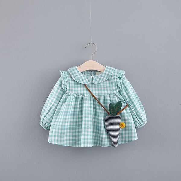 Doll Collar Plaided Dress
