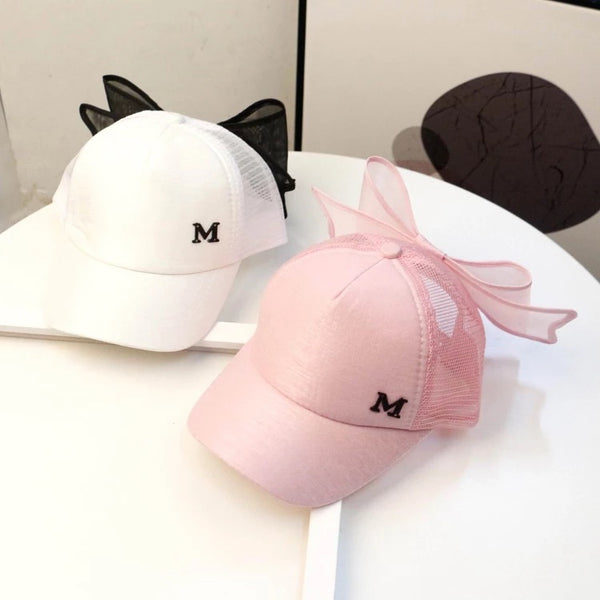 M Printed Bow Hat