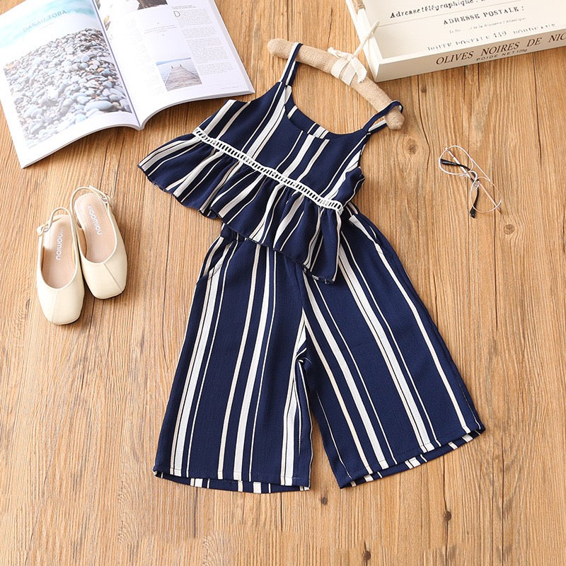 Striped Top And Pants Set