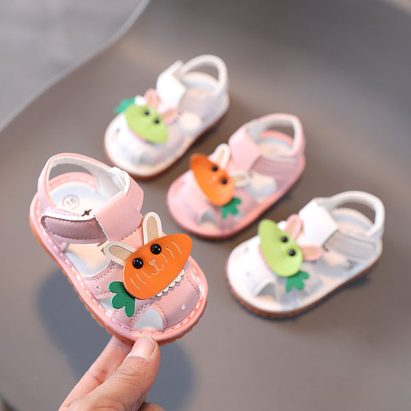 Rabbit made toddler sandals