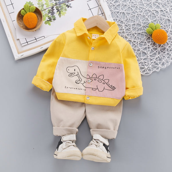 Dino Patch Shirt And pant set