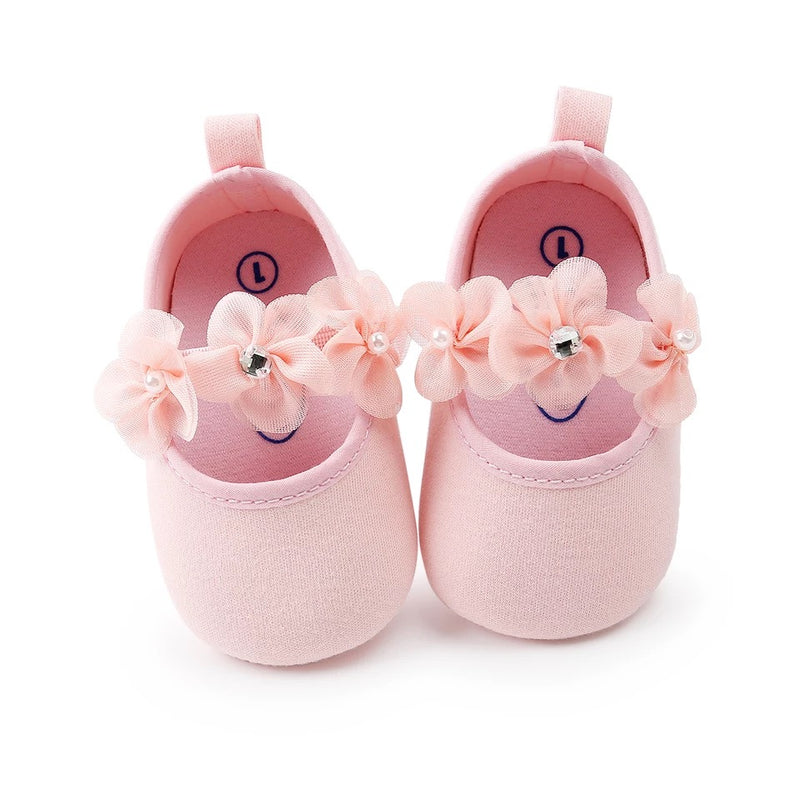 Flower Toddler Shoes With Headband