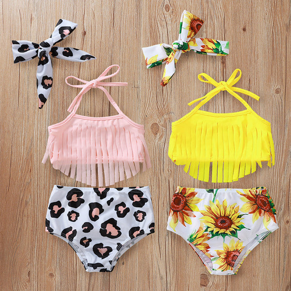 Printed shorts swimsuit