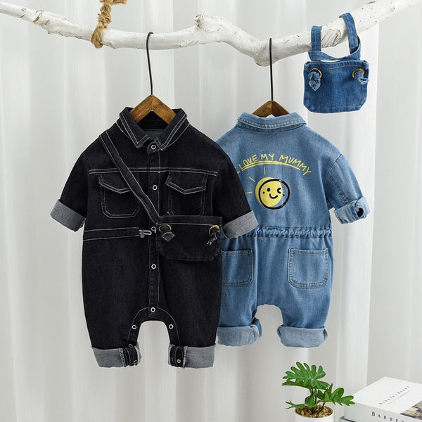 Double Pocket Denim Jumpsuit With Sling