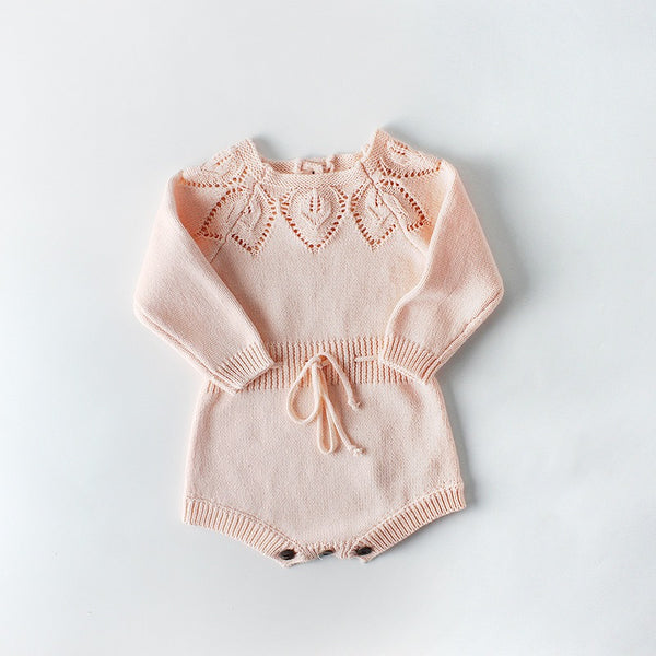 Knitted Baby Girl Romper