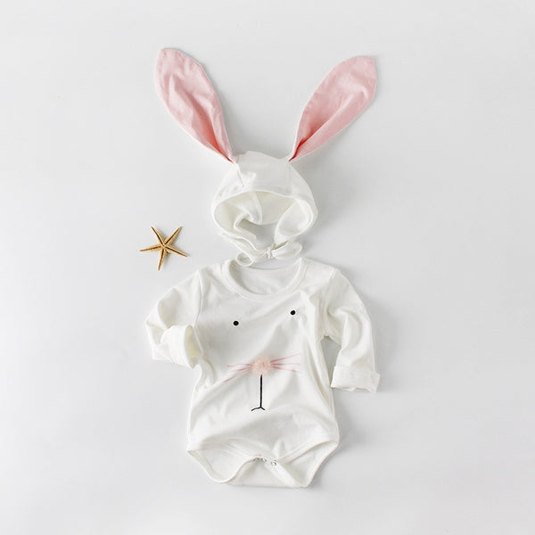Rabbit Romper With Rabbit Cap
