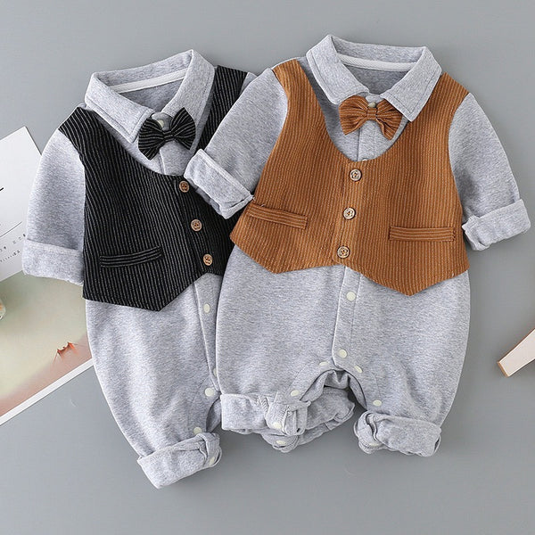 Waistcoat Attached Baby Romper