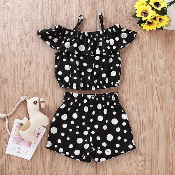 Black Polka Dotted Set