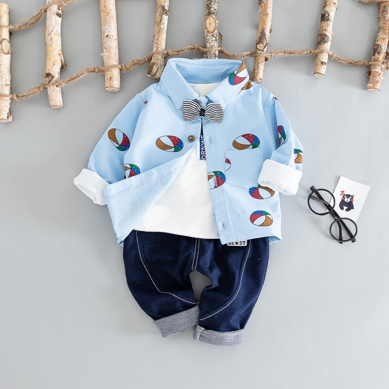 Ball Printed Baby Set