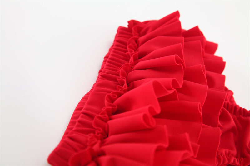 Red Ruffles Swimsuit