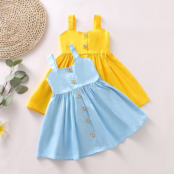 Pleated Buttoned Dress
