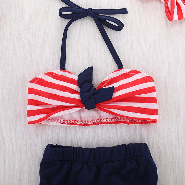 Classy Striped Swimsuit