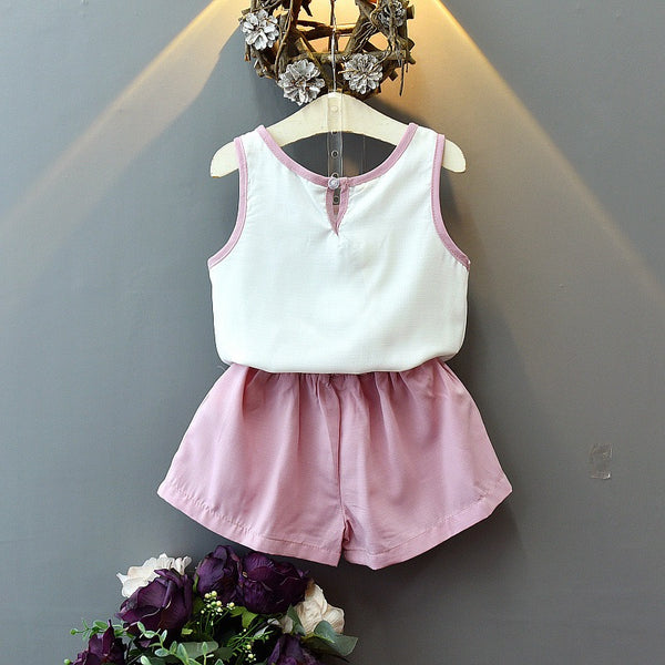 Bow Top And Shorts Summer Set