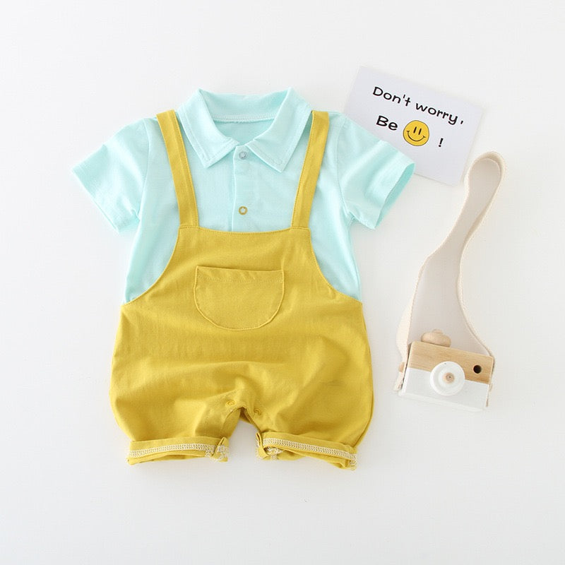 Polo Dungaree Style Romper