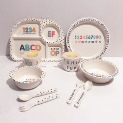 Alphabet And Numbers Crockery Set