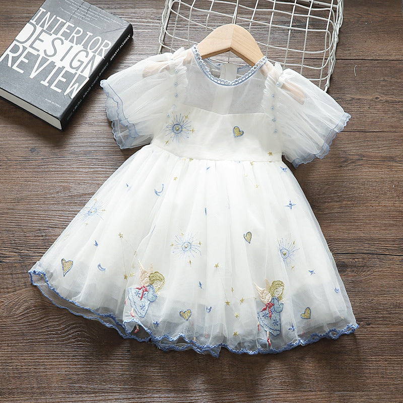 Angel Embroidered dress