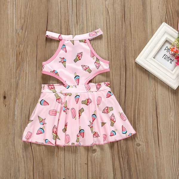 Ice Cream Printed Swimsuit