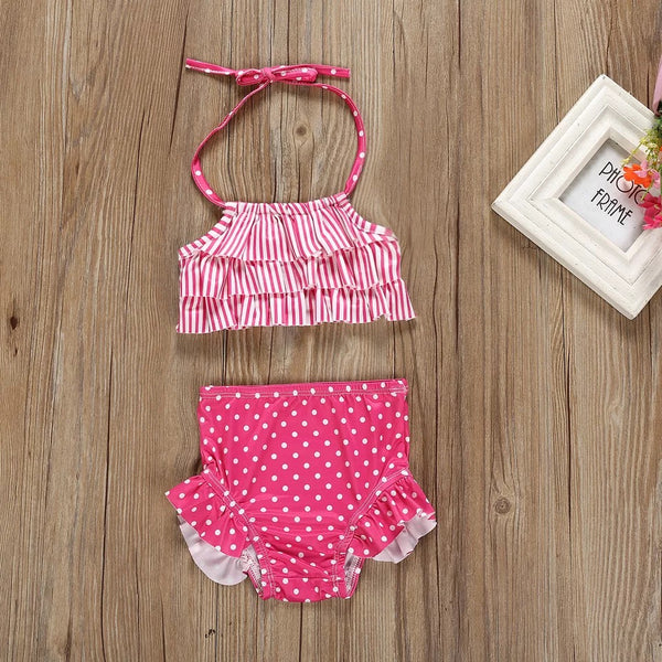 Stripes and Polka Dot Swimsuit