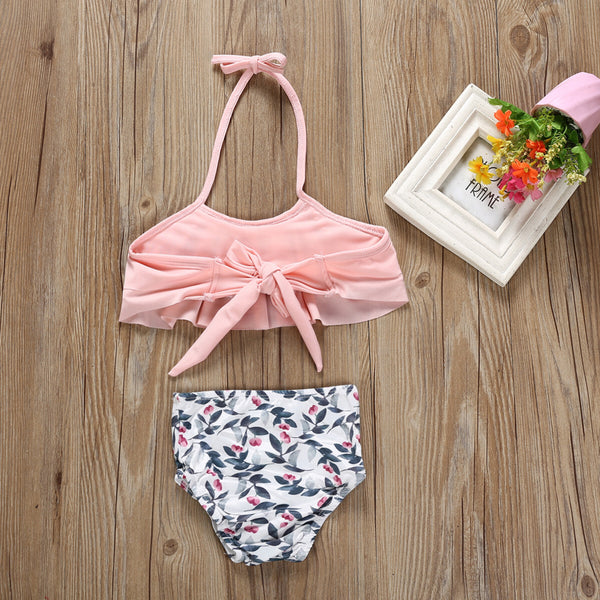 Halter Neck with Frills Swimsuit