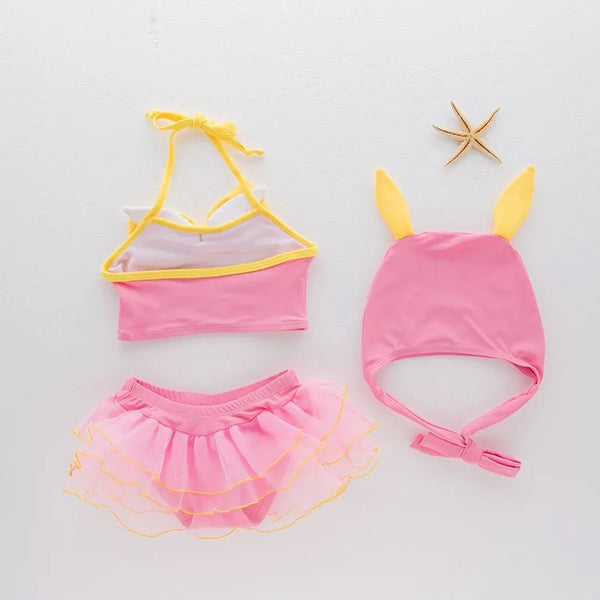 Cute Cat Swimsuit For Baby Girls