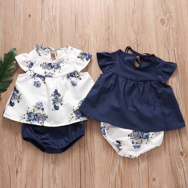 Flower Print Bloomer Set