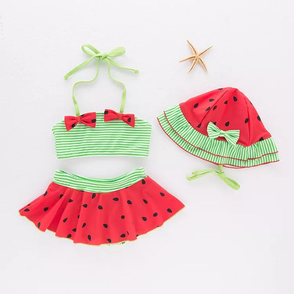 Half Striped Watermelon Baby Swimsuit