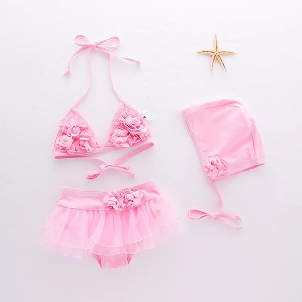 Flowers Baby Swimsuit