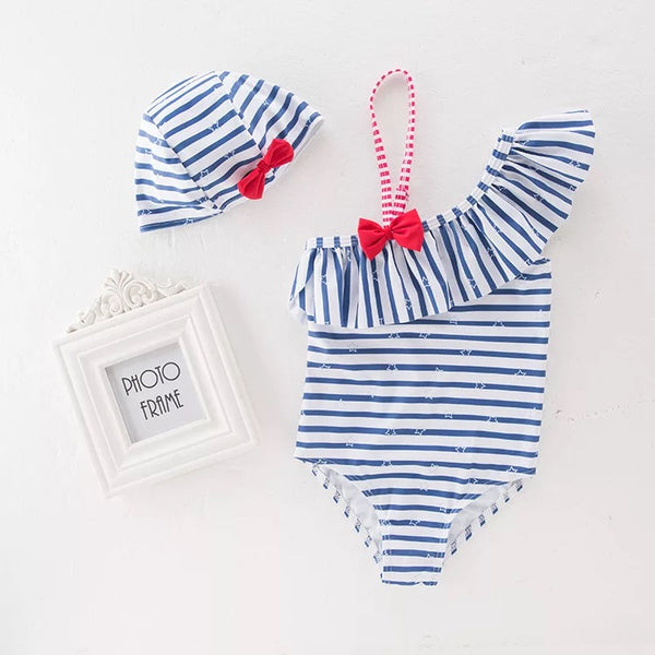 Star Striped Baby Swimsuit