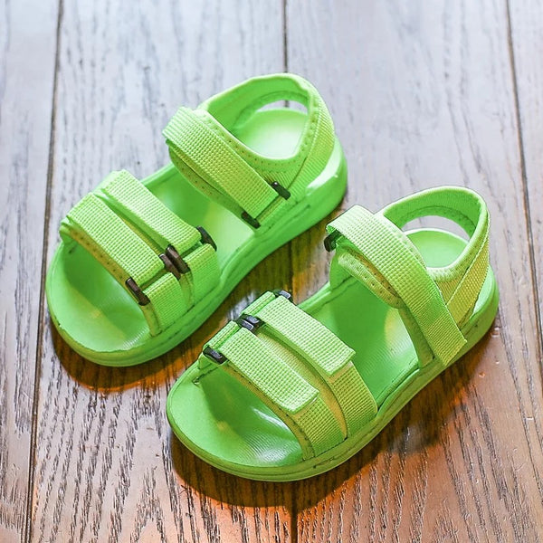 Colored Sandals With Velcro Strap
