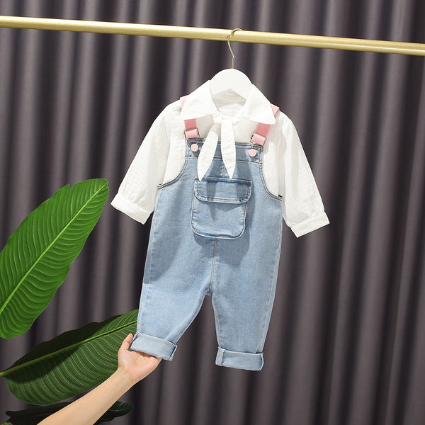 Wing Denim Dungaree With Shirt